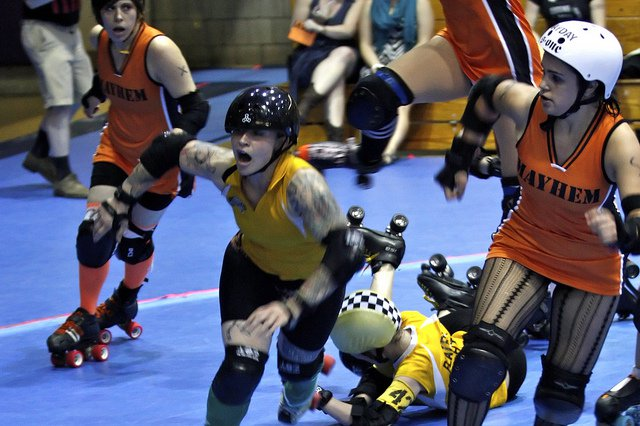roller derby knocked out teeth